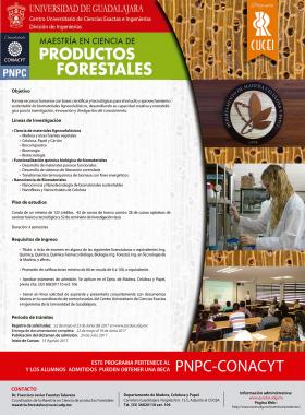 Cartel Maestria Ciencias Forestales CUCEI