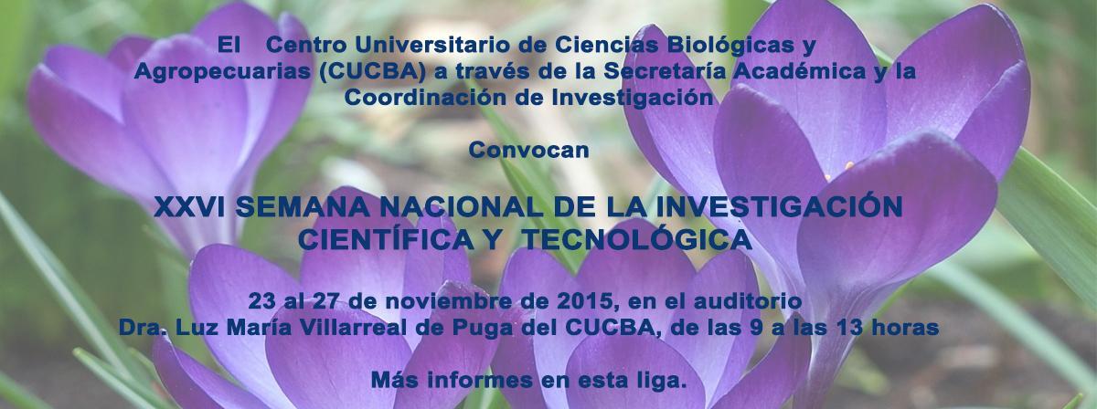 XXVI Semana Nacional de Investigación Científica y Tecnológica