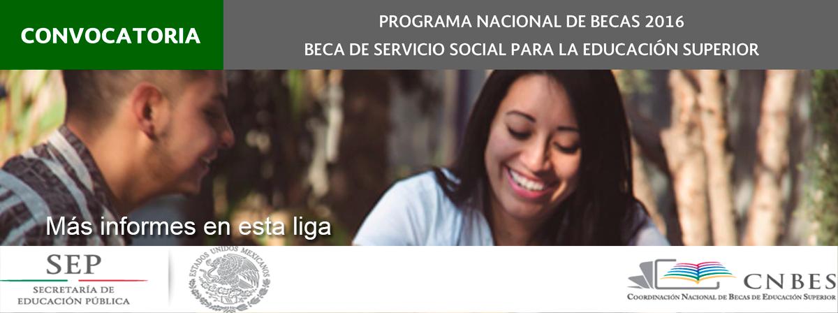 Becas Servicio Social 2016