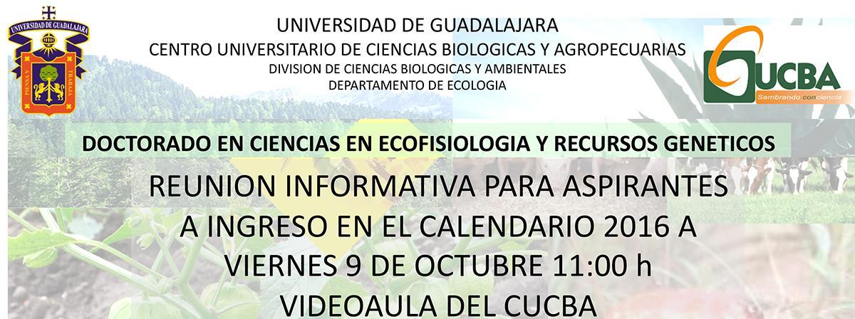 Doctorado en ciencias en ecofisiología y recursos genéticos