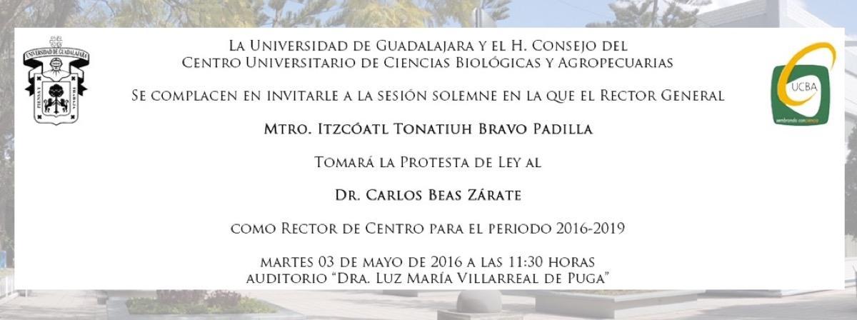 Toma de protesta Dr. Carlos Beas