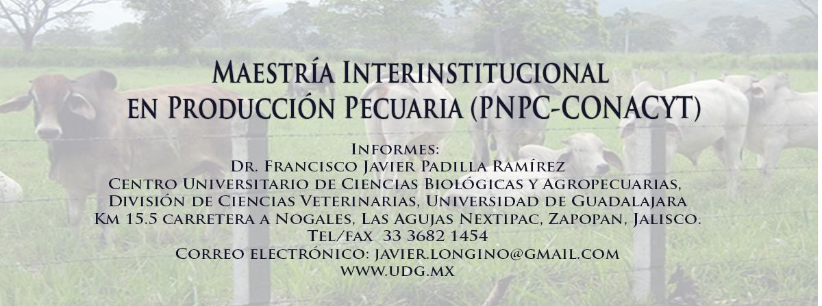 Maestría Interinstitucional en producción pecuaria